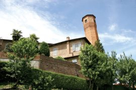 Scorcio del castello di Rivalba