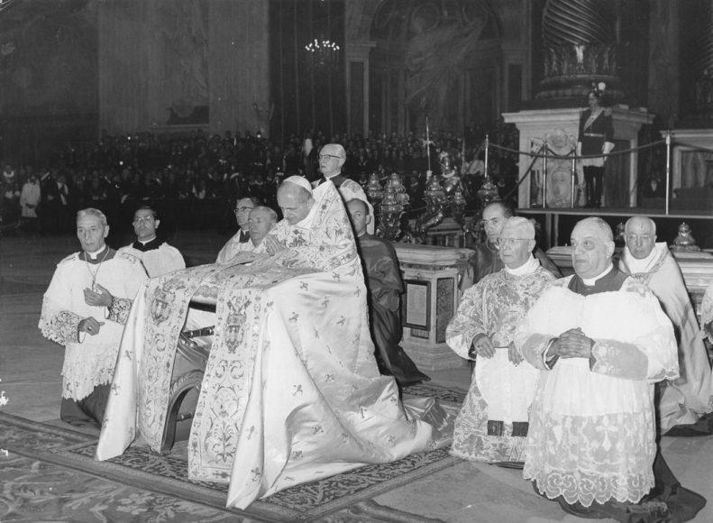 Piviale indossato da Paolo VI
